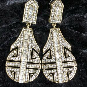 Fabulous Heidi Daus Art Deco Crystal Earrings
